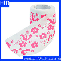 Custom Designed Novelty Flower Printed Toilet Paper