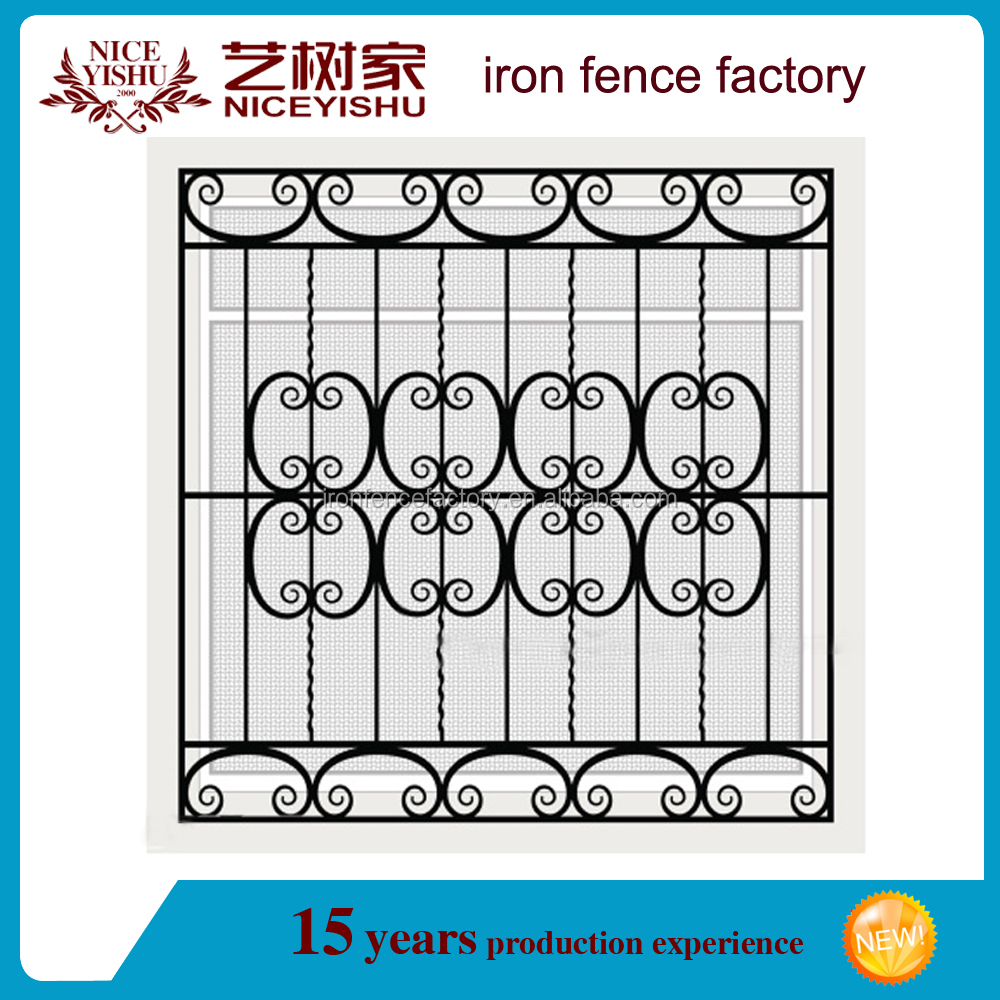 Decorative Wrought Iron Window Grill/outdoor Iron Grill