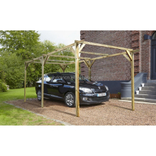 High quality good price prefab garage wooden canopy for sale prefab wooden carport
