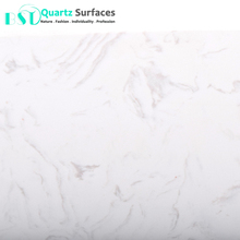 White-based Artificial Quartz Stone Slabs with Veins at a Low Price