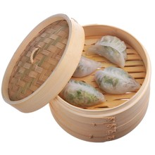 Round Bamboo Food Steamer Mini Dim Sum Bamboo Steamer Basket