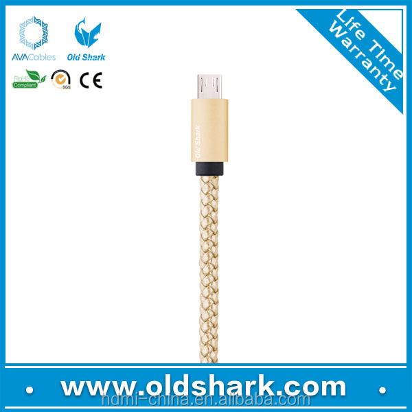 Brand new fashionable Leather cable micro 5pin usb cable for andriod smart phones