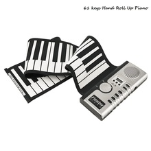 Wholesale Portable 61 Keys Universal Flexible Roll Up Electronic Piano MIDI Soft Keyboard Piano Electric Silicone Hand Keyboard