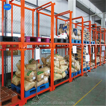 Industrial rigid metal warehouse storage collapsible pallet cage