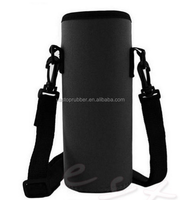 Top Grade 3mm Thick ! Portable water bottle holder with shoulder strap belt thermal insulate sleeve cooler bag