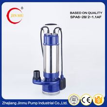 Cheap convenient vertical stainless steel multistage pumps 2 1.5 hp water submersible pump with best service
