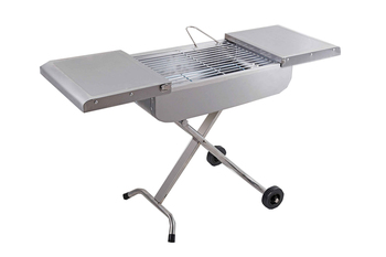 Unique trolley design portable stainless steel bbq grill