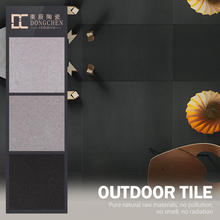 homogeneous 300 600mm 20mm thick outdoor building external wall fullbody tile exterior blacks porcelain tiles
