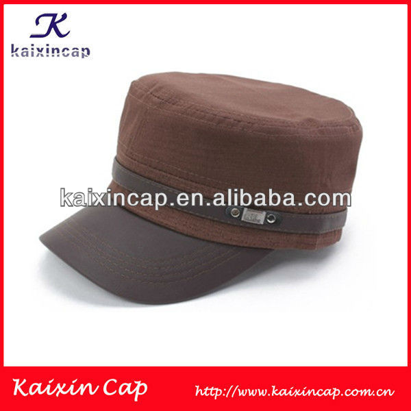 Maroon Military/Flat Top/Army Cap And Hat Lady Fashion