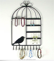 Necklace Organizer Hanging Display Wall Mount Earring Jewelry Holder