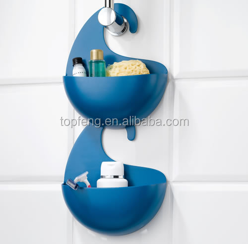 Plastic Bathroom Shower Caddy With Hook/ Plastic Bathing