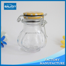 customzied clip top glass clear storage jar locking lid with cheapest price