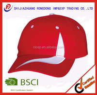 Wholesale 100% cotton twill brushed custom logo embroidery 2 color combinations good quality cheap baseball cap