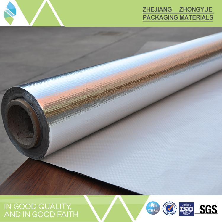 Fire resistant woven fabric aluminum foil heat insulation for Fire resistant insulation material