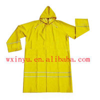 PL-48 High quality long yellow safety raincoat reflective raincoat