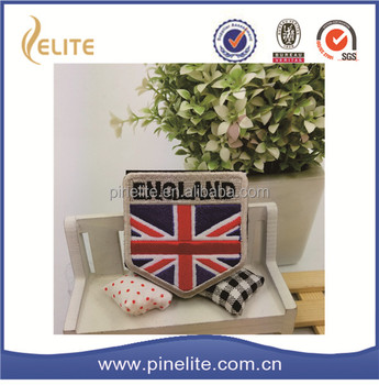 wholesale 3D uk flag sew on embroidery letter patches for hat