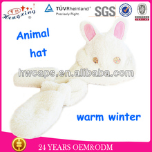 Animal hat with paws animal ears long fur hat animal fur hat