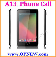 "7"" Android 4.2 Smart Phone Tablet PC 7 inch Phone Call Mobile Phone Quadband GSM BT Allwinner A13 3G 6 Color"