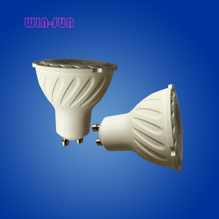 C- China LED light indoor lamp aluminum and plastic shell PC lens IC driver 45 degree COB 7w GU10 spolight