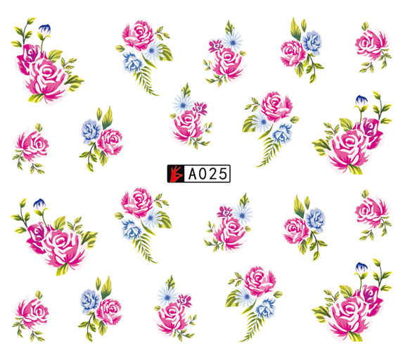 A025-036 Fashion Nail Art Water Nail Sticker Decals