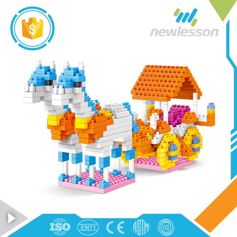 2017 building blocks intellect bricks dream toy horse carriage for children