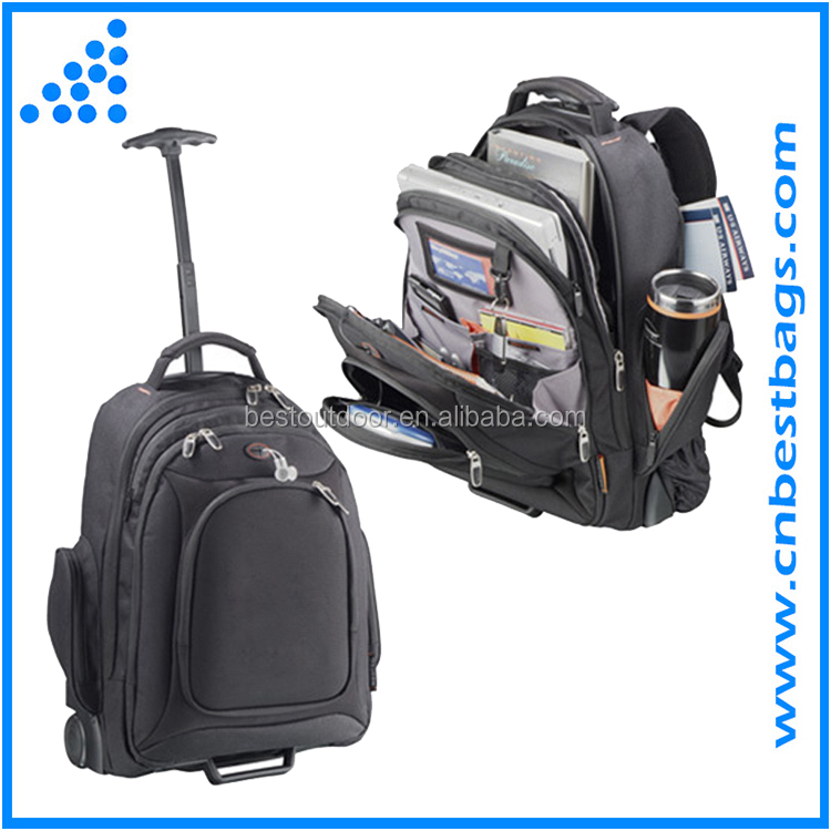 waterproof briefcase rolling laptop bag Rolling Computer Backpack