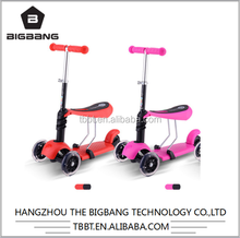 HANGZHOU THE BIGBANG new design Tri-Scooter Children Frog Scooter, Three Wheel Kick Scooter wholesale cheap price factory sale