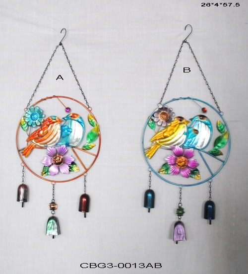 Creative Birds Wind-bell Metal-Bells Hanging Wind Chime Yard Garden Home ornaments