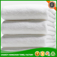 Hospital use top grade 100% cotton disposable bath towel set