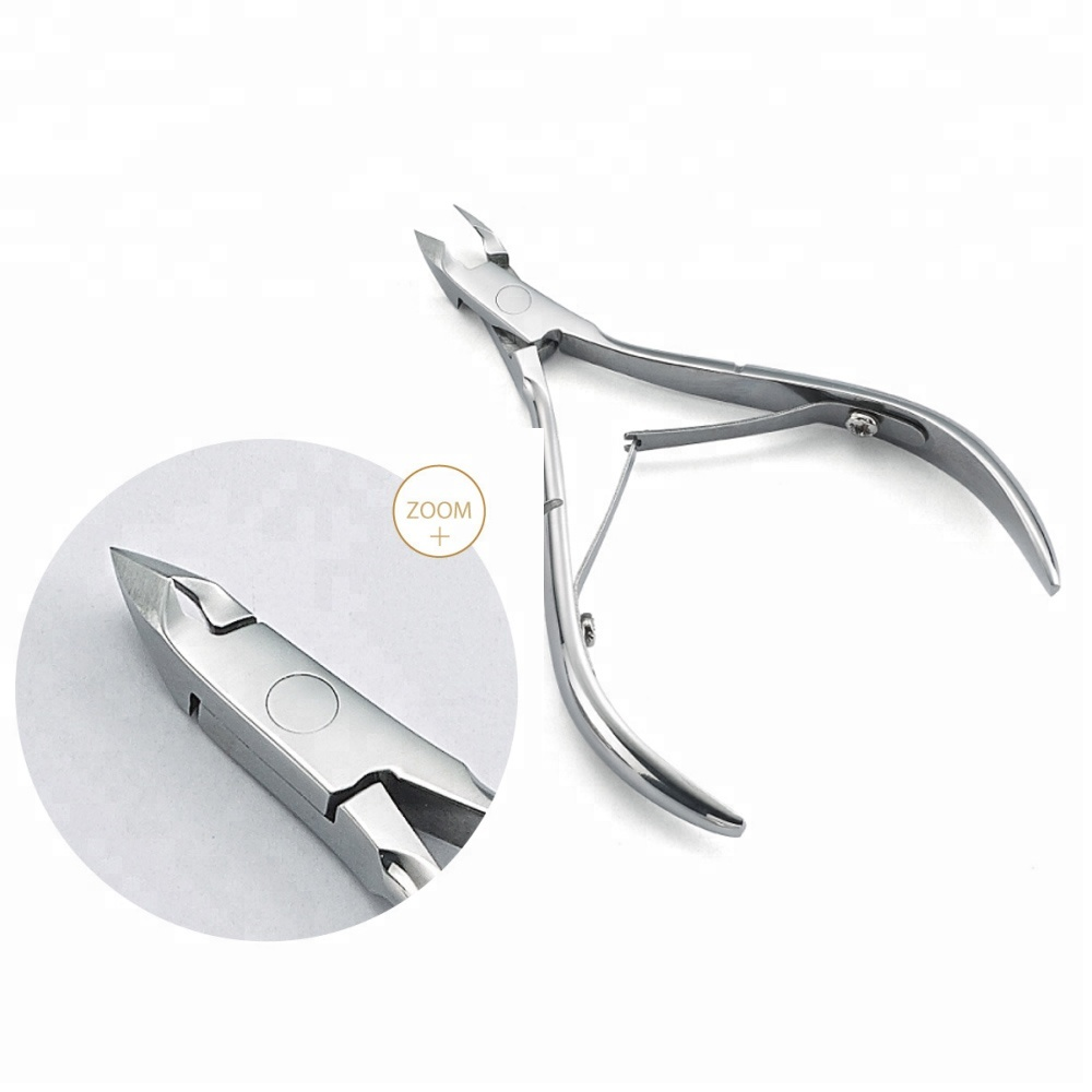 Hot Selling Professional Stainless Steel Nail Cuticle Nipper With Full Jaw Sharp Edge Cutting Nipper
