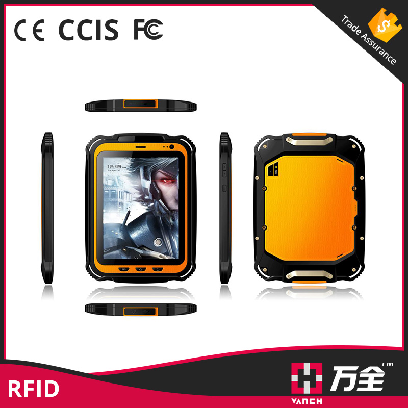 Rugged WIFI/GPRS/NFC/Bluetooth/RFID Tablet Reader for Access Control