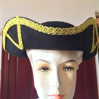 Halloween caribbean costume captain Jack tri corner pirate hat