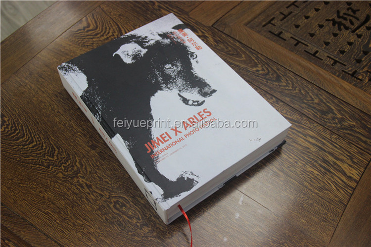 Full color offset printing cheap thick hardcover book