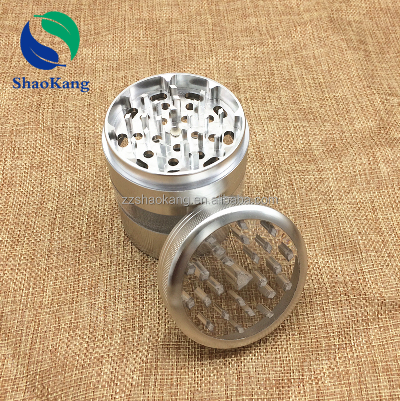 China Alibaba Wholesale Smoking Accessories 4 Part 3.2 Inch Herb Grinder Custom Herb Grinder