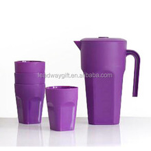 China factory plastic water pitcher with cup for wholesale