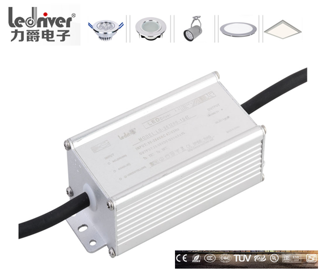 Constant Current 30w 900ma Waterproof Electronic Led Driver IP66 For Led Street Light