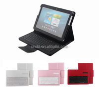 Removeable Bluetooth Keyboard Leather Case For Samsung Galaxy Tab 10.1 P7500 P5100