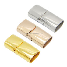 12x6mm Hole Gold Rose Gold Plated 3 Colors Tube Stainless Steel Slide Lock Magnetic Clasps For Leather Cord Bracelets BXGC-132