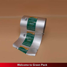 Aluminum foil food packaging bag film/plastic printed laminated packing film roll