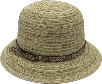 TW36-7Cloche Hat Polyester/Cotton 3'' Paper Hat