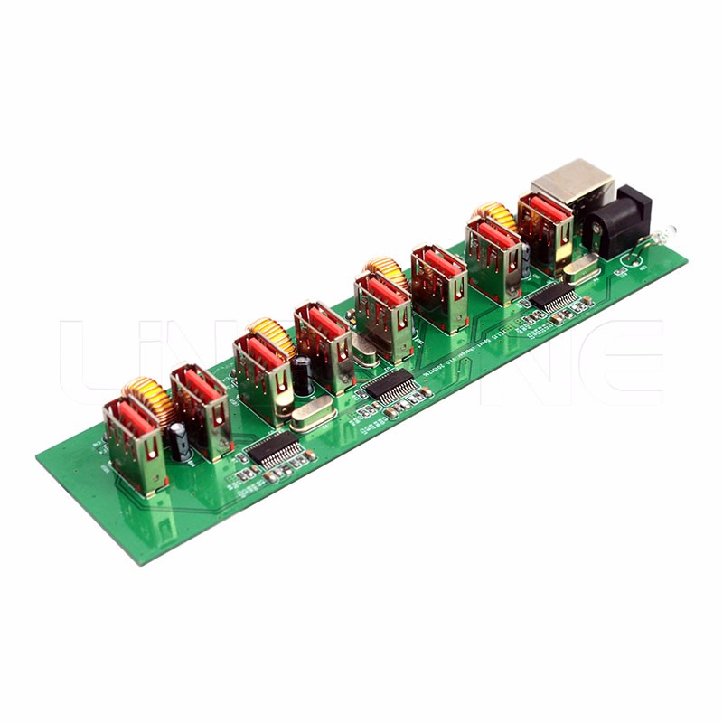 OEM usb 2.0 hub board 8 port circuit prototype pcb for charging data transfer