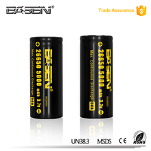 17 Years OEM or ODM Manufacturer High Power Capacity 26650 rechargeable lithium ion bright light torch battery batteries