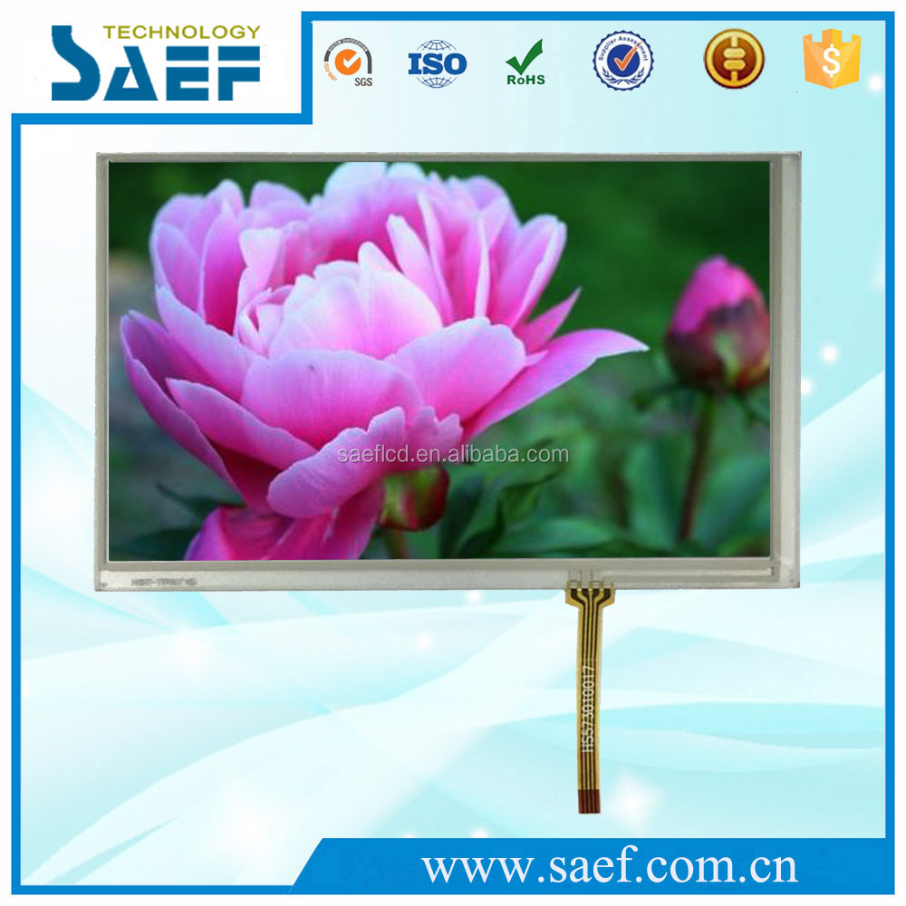 7 inches tft lcd color displays module 800x480 dots resistive touch screen with RGB interface