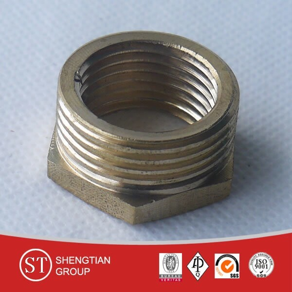 british standard pipe and fittings threaded hex head thread reducer bushing
