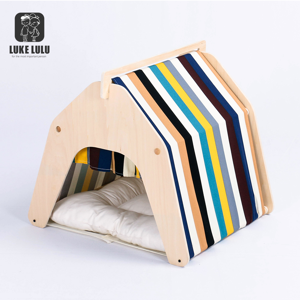 Custom Indoor Dog Houses Cat Kennel Mongolia Bag Tent Dog Pet Wooden House For small dogs