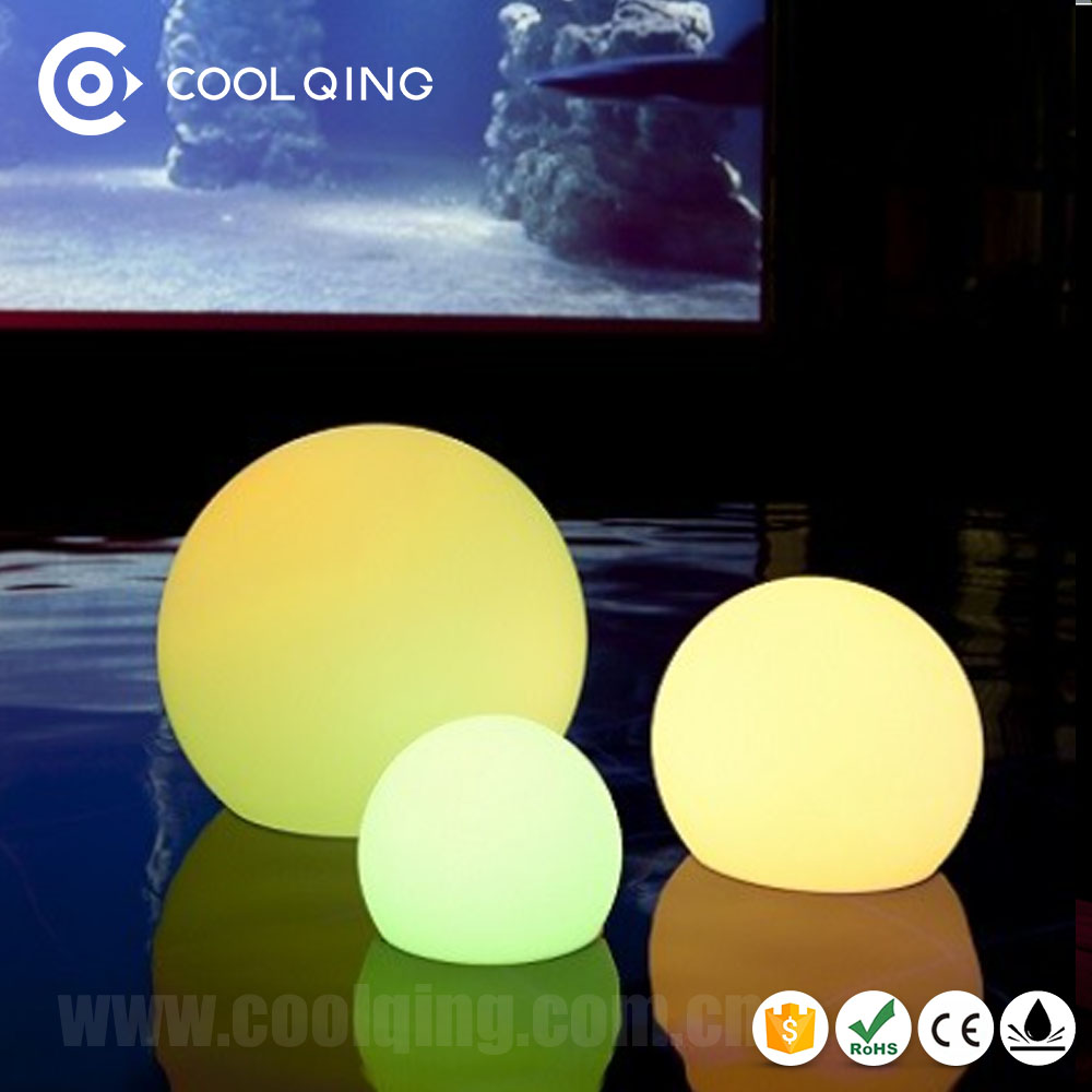 CE RoHS approved waterproof IP65 16RGB color changing led light ball / commercial plastic balls