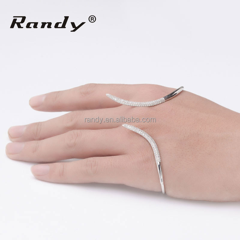 Turkish Jewelry Simple Design Silver Plated Cuff Palm Bangle Bracelet Without Stone