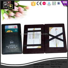Brown PU Leather name card holder pu for namecard