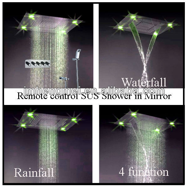 600*800mm 7 color flash electronic led ceiling shower