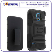 Dual Layer Holster Case with Kickstand and Locking Belt Swivel Clip for Samsung Galaxy S5 i9600